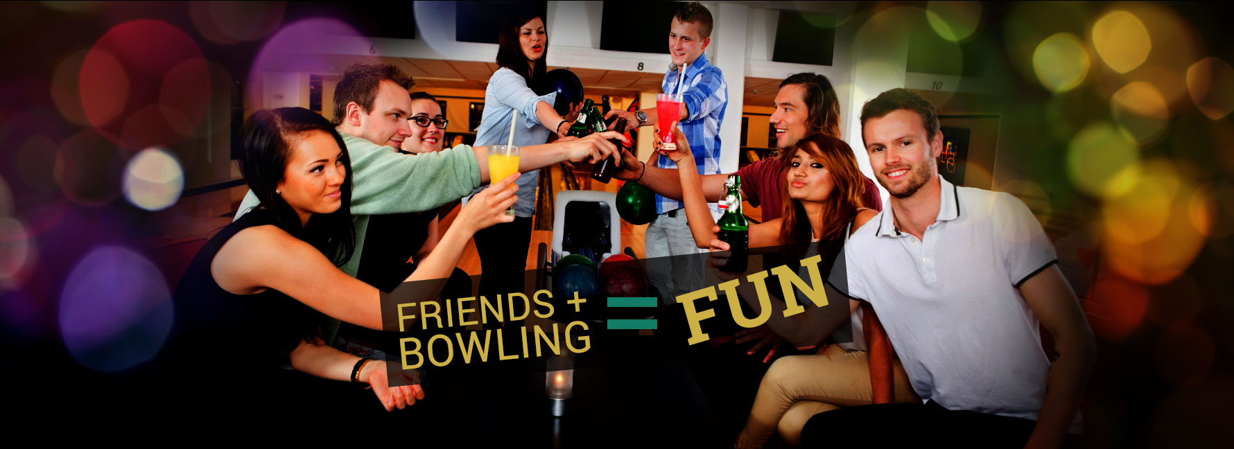 Friends + Bowing = Fun, Friends drinking together